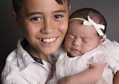 Newborn girl with big brother newborn photography Sydney