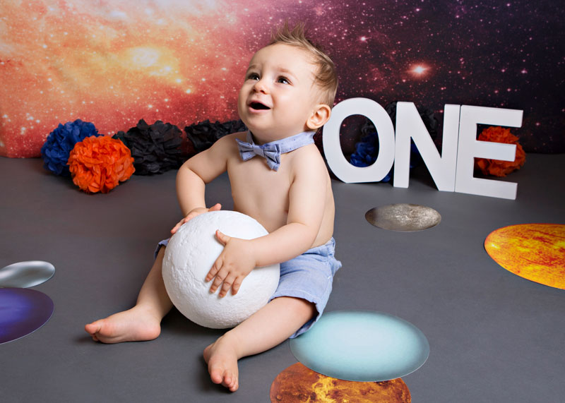 Space-themed-cake-smash-2 Baby Photography Sydney