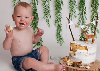 cake-smash-boy-forest-green-simplistic Baby Photography Sydney