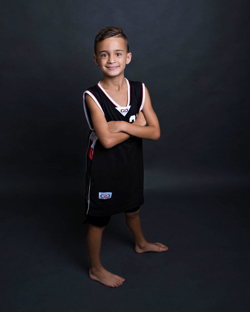 boy portrait basketball